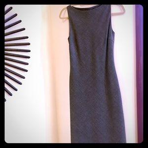 ZARA sleeveless shift midi dress